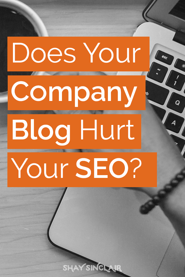 If your company blog is an afterthought, it can do severe damage to your rankings. There's a way to fix that, though. (Hint: Your audience is going to love it.)