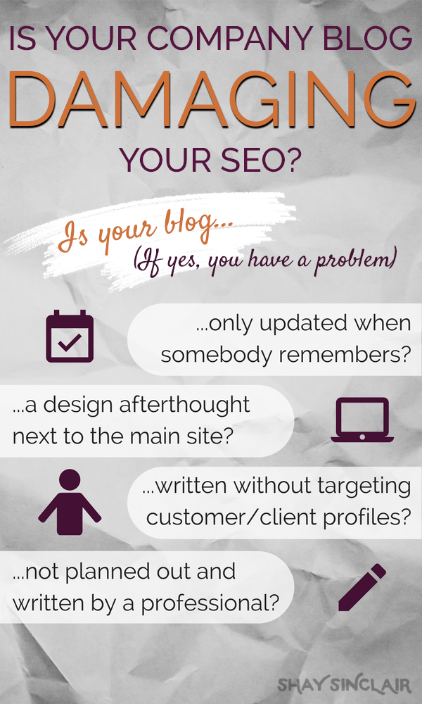 Is Your Business Blog Damaging Your SEO Infographic